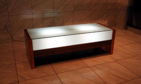 LEON ガラステーブル
