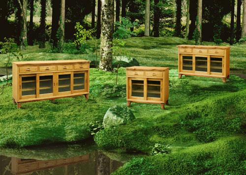森の木精サイドボード(桐・欅)