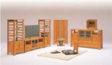 60ハイボード・180TVボード・180バックパネルTV 座椅子(円)・二枚屏風(格子)