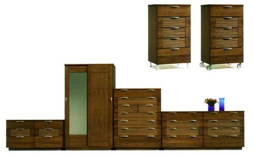 ルーバーを特徴としたモダンなトータル家具