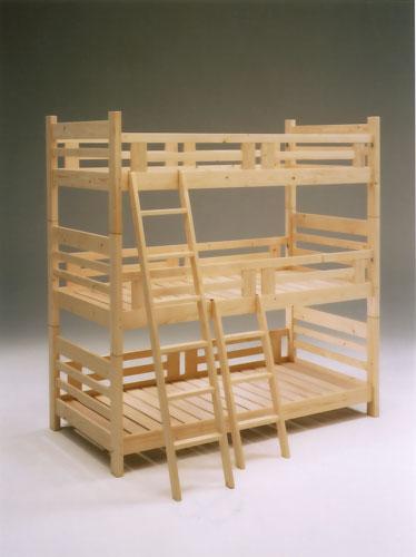 三段ベッド フレンド 三段ベッド メイト(蜜ろう仕上)