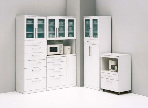 コンパクト&スリム、人気の ホワイトキッチン収納シリーズです。